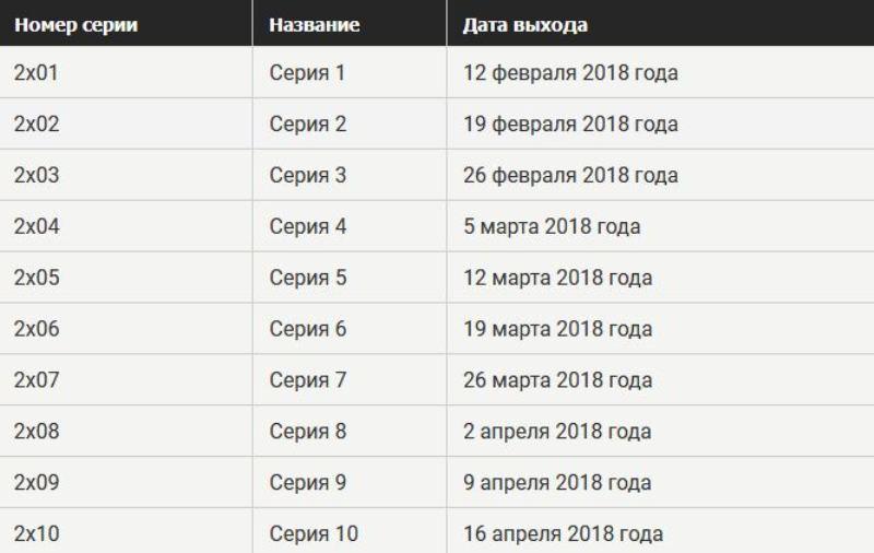 """Сериал """"Вражда"""" 2 сезон дата выхода серий"""