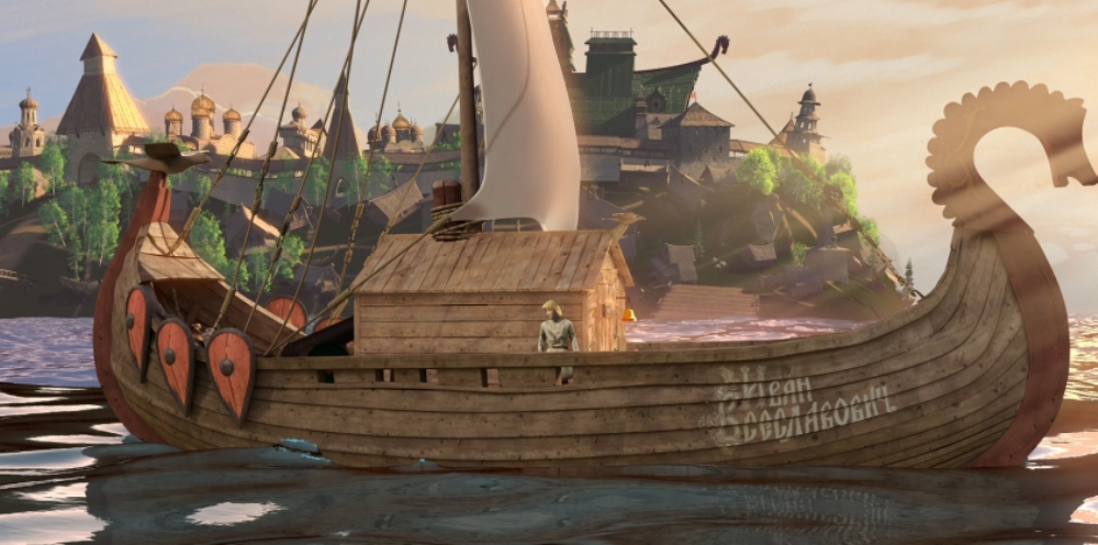 Садко 2, кадр из мультфильма, корабль