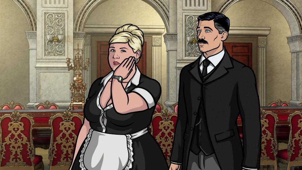 Арчер 10 сезон, кадр из мультфильма горничная