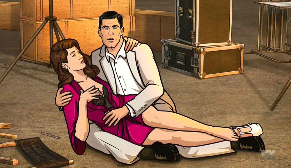 Арчер 10 сезон, кадр из мультфильма объятья