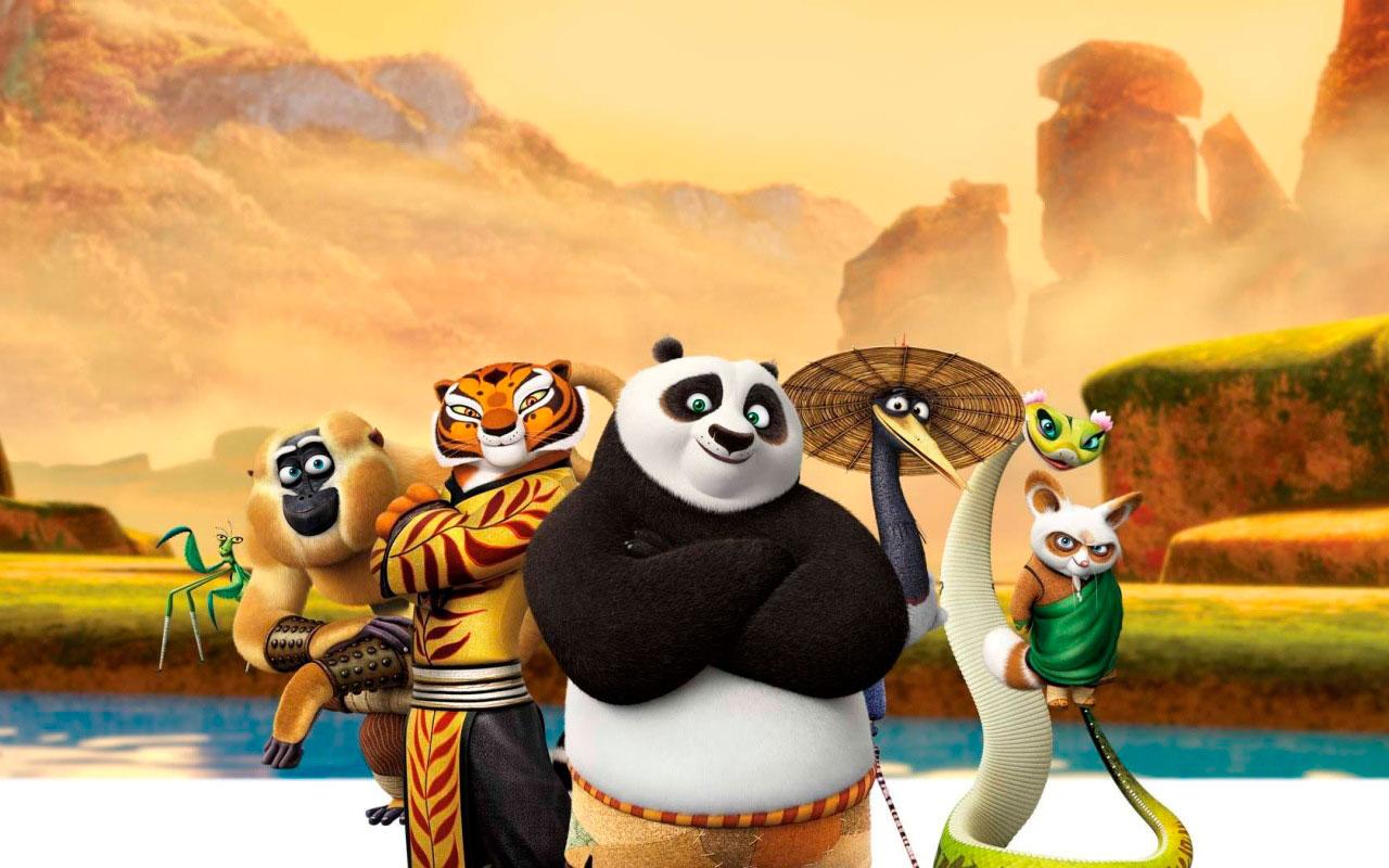картинки кунфу панда смотреть город