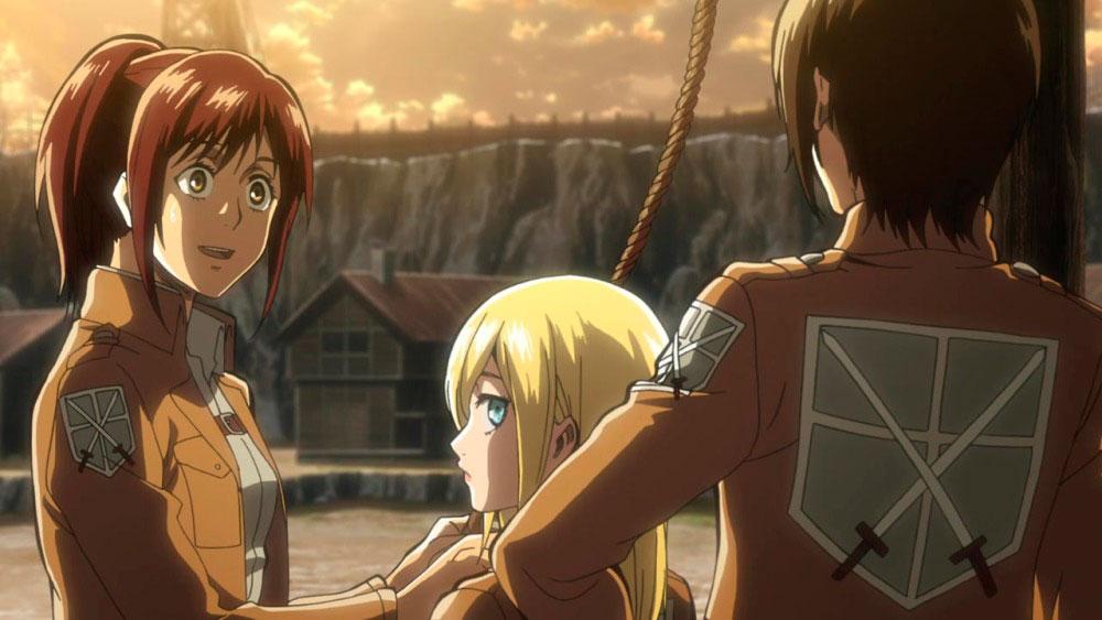 Атака титанов 4 сезон, кадр из аниме