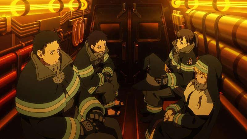 Пламенная бригада пожарных 2 сезон кадр из аниме