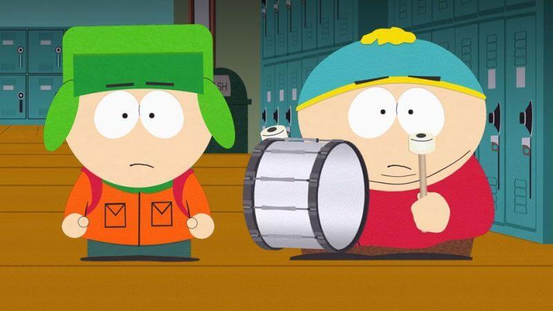 Играют на барабане Южный парк