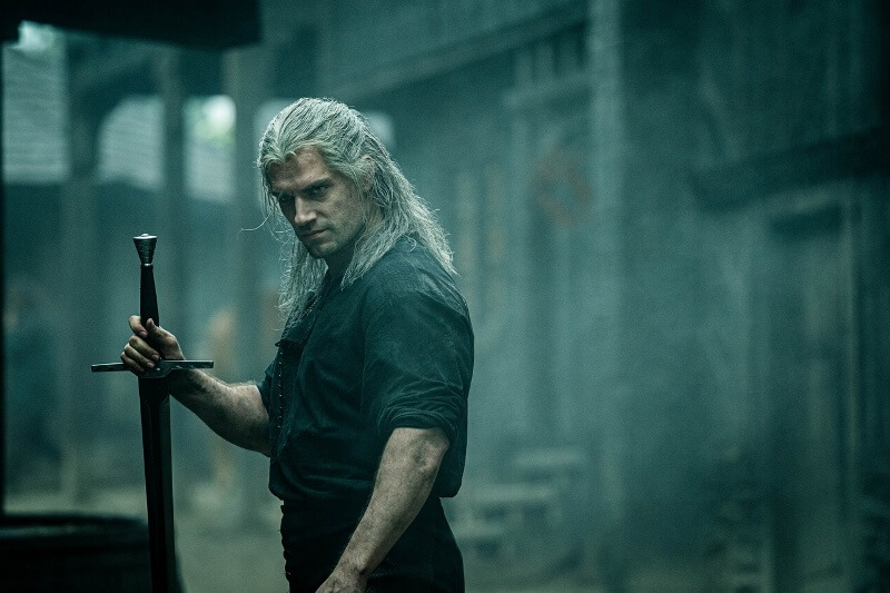 Генри Кавилл в сериале Ведьмак
