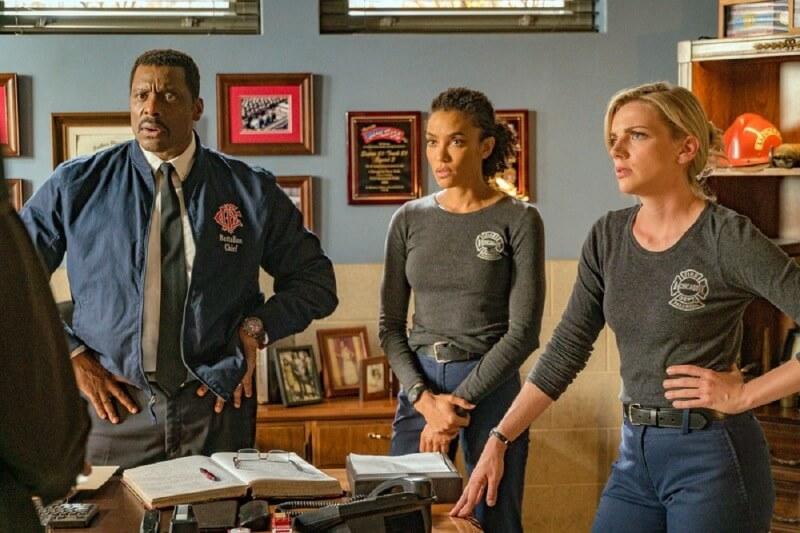 Кадр из сериала Пожарные Чикаго