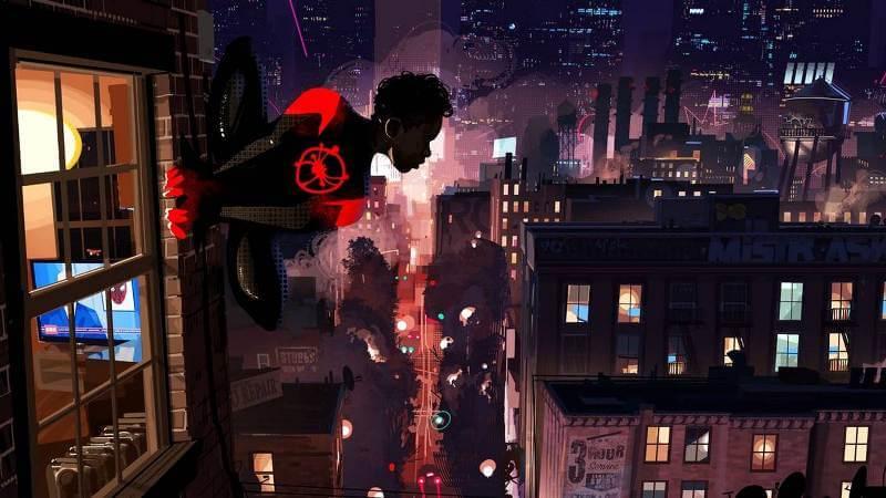 Кадр из мультфильма Человек-паук: Через вселенные 2