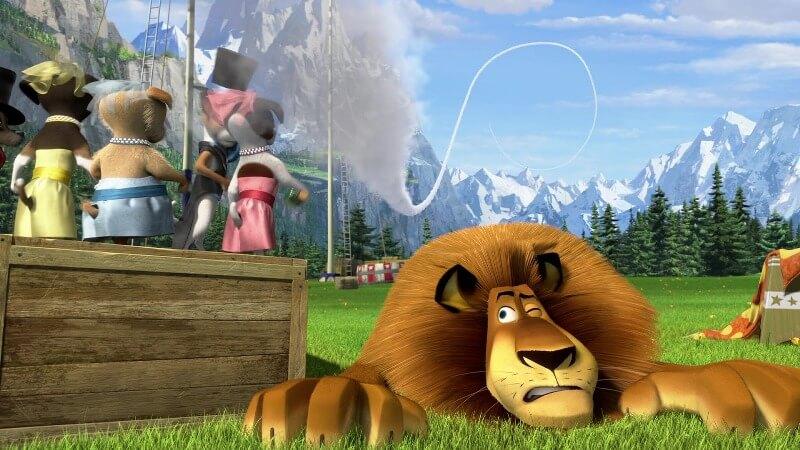 Кадр из мультфильма Мадагаскар 4