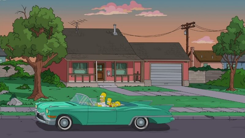 В машине Симпсоны 34 сезон