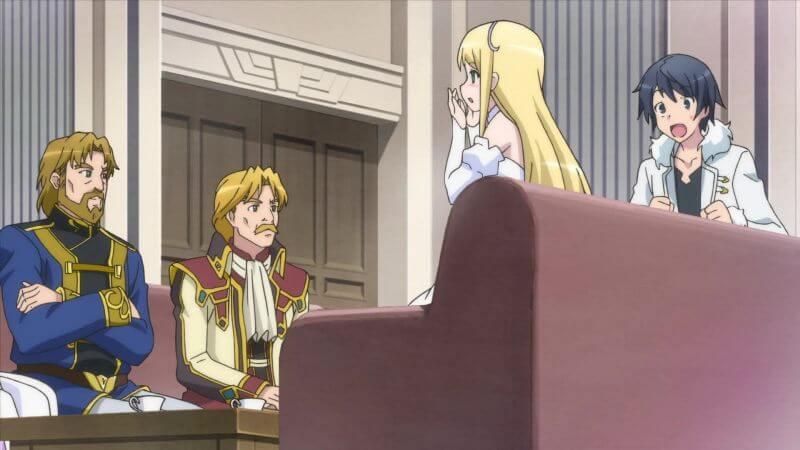 Кадр из аниме В другом мире со смартфоном 2 сезон
