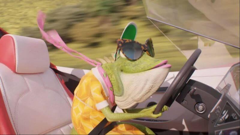 Жаба в машине Зверопой 2
